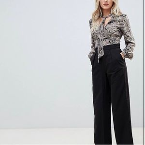 ASOS Work/Career Pleated Wide Leg Trouser, Size 8